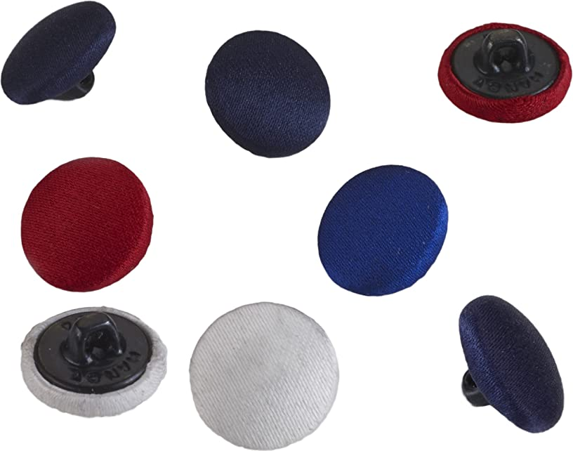Pearl 24 Count Satin Covered Buttons, 5/8
