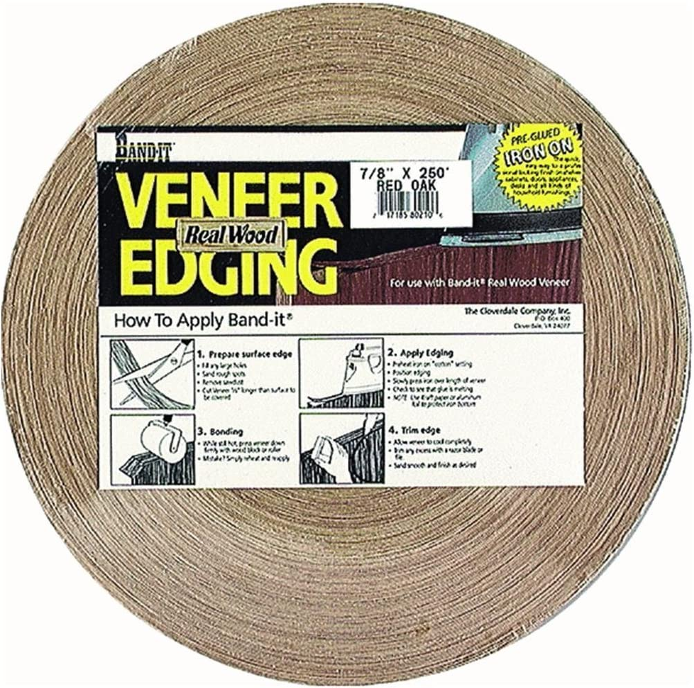 Band-It 40250 Real Sales of SALE items from new Latest item works Wood Veneer Birch Edgebanding White Iron-On