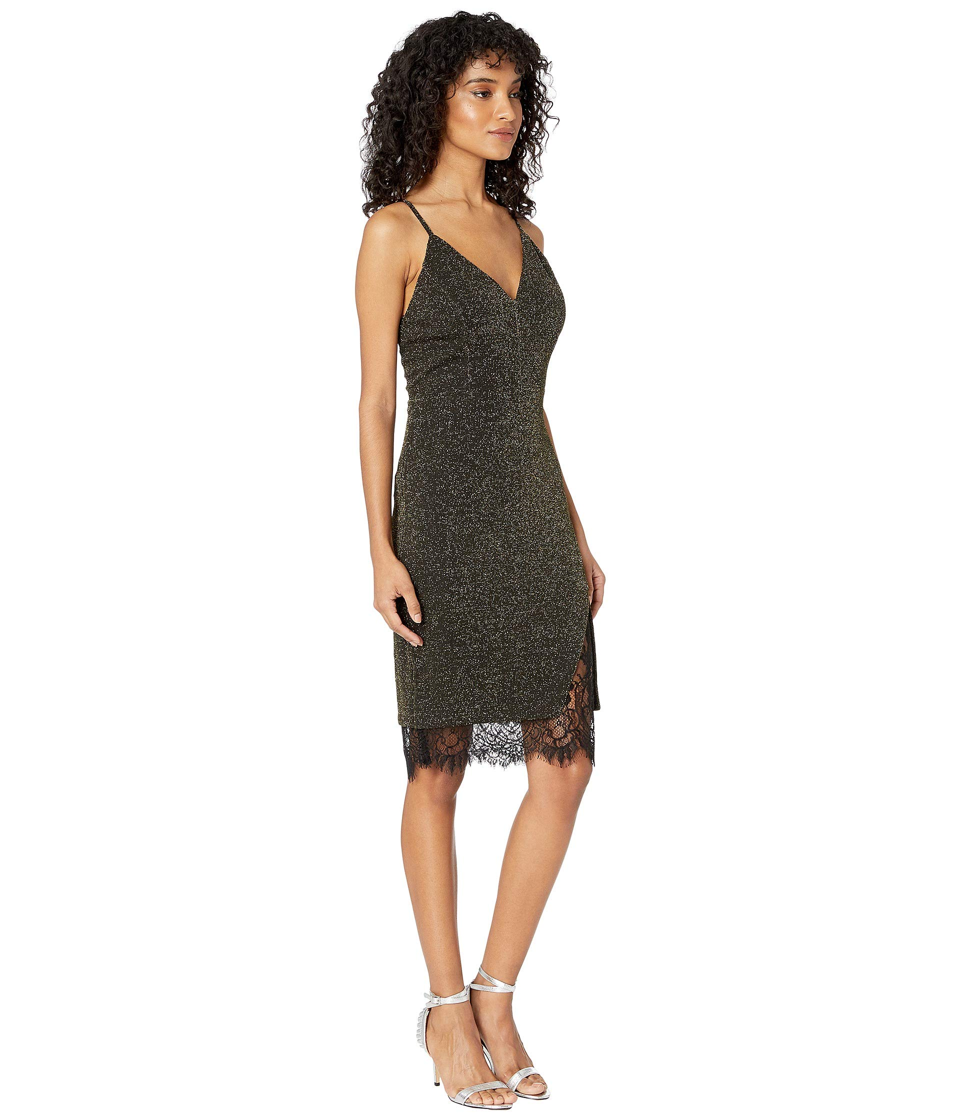 o Knit gold a Lace J Dress Back Black adzwaq