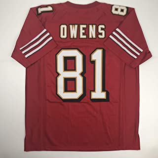 4621e4f2470 Unsigned Terrell Owens San Francisco Red Custom Stitched Football Jersey  Size Men s XL New No Brands