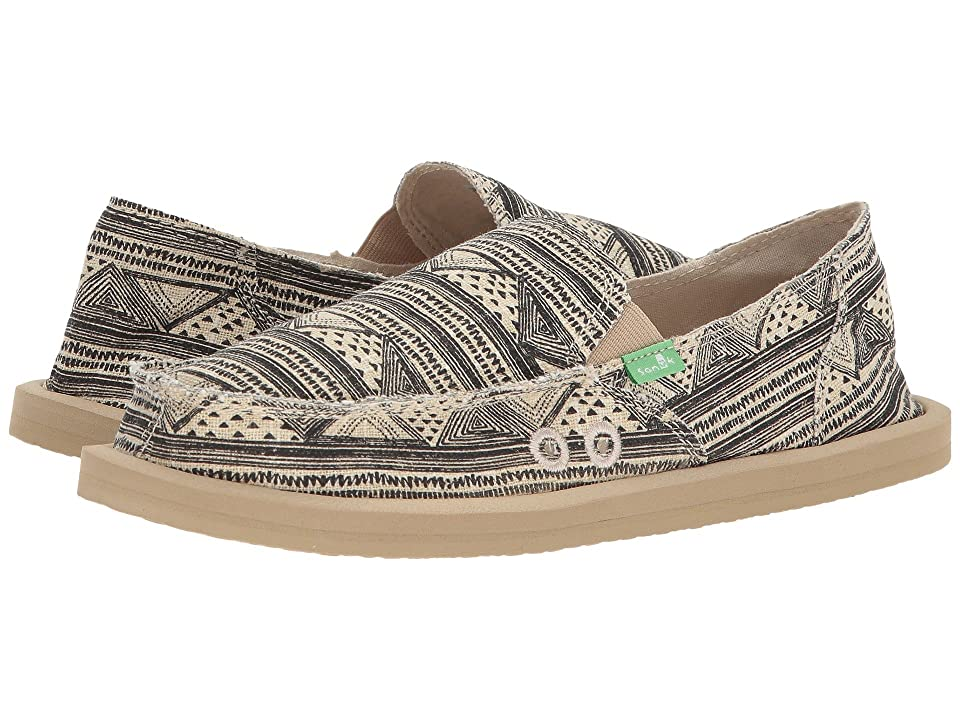 Sanuk Donna (Black/Tan Geo Stripes) Women
