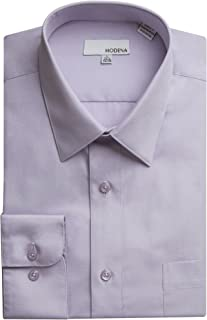 Modena Men's Regular & Contemporary (Slim) Fit Long Sleeve Solid Dress Shirt – Colors (All Sizes)