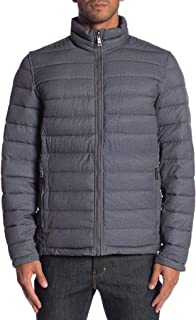 Men's Stretch Reversible Midnight Jacket Puffer Coat Grey Blue