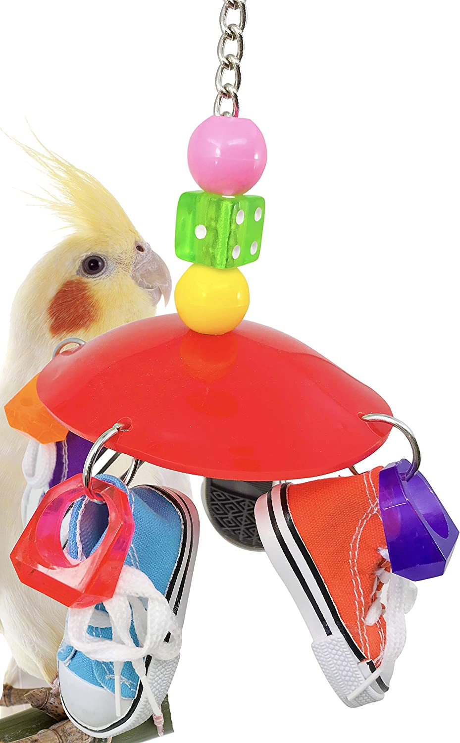 Bonka Bird Toys 1886 Disk Sneaker Bird Toy parred cage toys cages african grey amazon conure