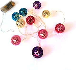 CVHOMEDECO. Colorful Glass Balls LED String Lights Battery Operated for Home Bedroom Wedding Party Birthday Valentine's Da...
