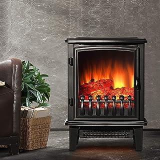 Devanti 1800W Electric Fireplace Heater Portable Fire Wood Log Flame Effect Heat