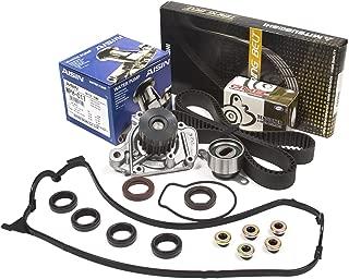 Evergreen TBK224MVCA2 Fits 96-00 Honda Civic 1.6 Seal D16Y Timing Belt Kit Valve Cover Gasket AISIN Water Pump