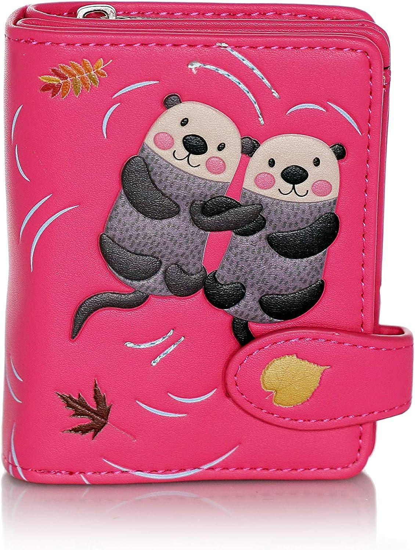 Shagwear Otters Small shopping Zipper shopping Women's Wallet Faux Leather