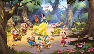 RoomMates JL1281M Ultra-Strippable Snow White and The Seven Dwarfs Mural, 6-Feet x 10.5-Feet, 1-Pack