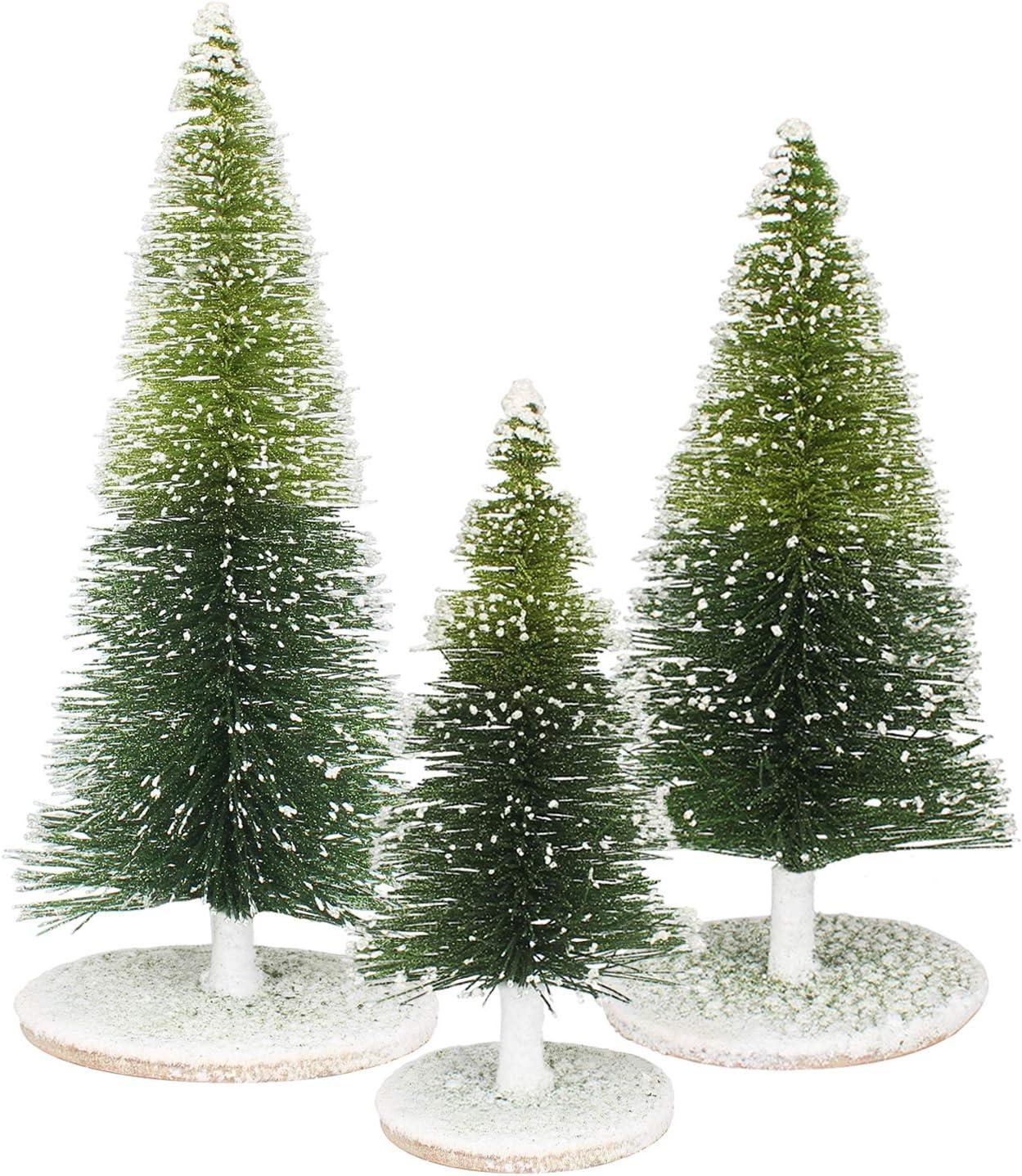 Mini Christmas 希少 Tree 2020 Pine with Wi Snow White Foam Base