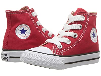 Converse Kids Chuck Taylor(r) All Star(r) Core Hi (Infant/Toddler) (Red) Kids Shoes