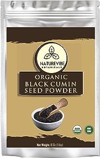 Organic Black Cumin Seed Ground, Nigella Sativa (1lb) by Naturevibe Botanicals, Gluten-Free & Non-GMO (16 ounces)