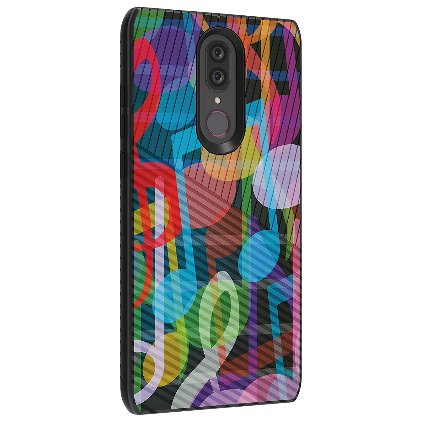 TurtleArmor | Compatible with Coolpad Alchemy Case | Coolpad Legacy Case | Slim Armor Hybrid Dual Layer Engraved Grooves Shell Case Music Design - Colorful Music