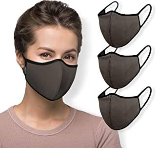 WITH U Washable Reusable Face Masks - 3-Layer Protections, For Office Work Outdoors Workout - Made in USA (3 Packs)