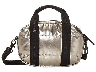 LeSportsac Amanda Micro Mini Crossbody (Silver Patent) Handbags