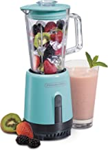 Proctor Silex Compact One-Touch Blender for Shakes and Smoothies with 20oz Glass Jar, Blue (51152A)
