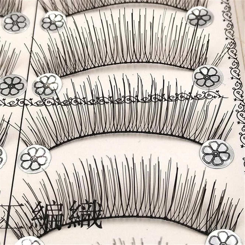 通訳アレイまたつけまつげ LLuche 3Dミンクつけまつ毛ア グラマラスボリュームアイラッシュ ふんわりロングまつ毛 ふんわりロングまつ毛 メイクアップ10ペアのための手作りの自然なファッション長いつけまつげL01-L11ナチュラルスリムヌードメイクアップアイラッシュ10ペアL06(黒6)
