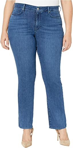 Plus Size Marilyn Straight Jeans in Habana