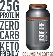 Isopure Zero Carb, Keto Friendly Protein Powder, 100% Whey Protein Isolate, Flavor: Columbian Coffee, 3 Pounds