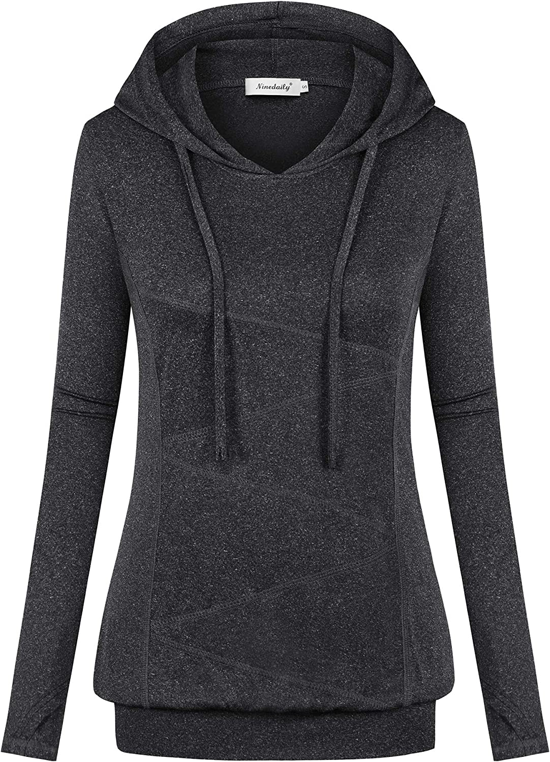 Ninedaily Women's Long Sleeve Hoodies Winter Workout Fitness Tops Exercise Shirt