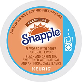 Keurig, Snapple, Peach Iced Tea, K-Cup Pods, 72 Count