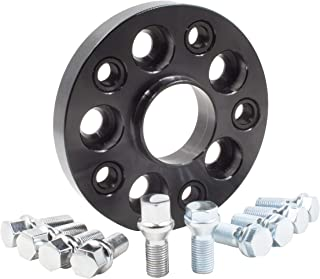 Wheel Accessories Parts 1 Bolt-on Spacer Kit 5x112 to 5x112 Bolt Pattern 66.56 Hub Bore Fit Vehicle with M12x1.5 Thread. Complete Kit with Lug Bolts (Sold as Each) (20mm Thick, Chrome Lug Bolts)