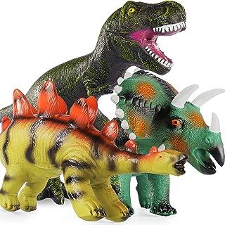 Baby Home 3Pcs 16'' Huge Dinosaur Toys - Realistic Looking Dinosaur Figures,Including Jurassic T-Rex Triceratops Stegosaur...