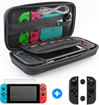 Switch Case with Screen Protector Switch Carry Case and Screen Protector Joy-Con Gel Guards Carrying Case Travel Case Switch Glass Screen Protector