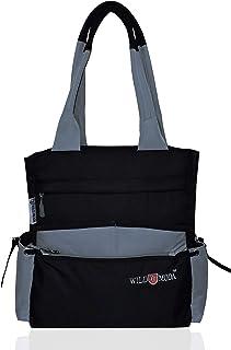 WILDMODA Women's Shoulder Bag (WM-OLD-2_Black & Grey)