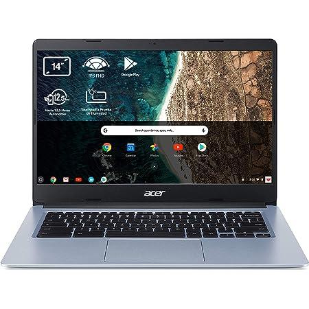 "Acer Chromebook 314 CB314-1H - Ordenador Portátil 14"" HD, Laptop (Intel Celeron N4020, 4GB RAM, 64GB eMMc, Intel UHD Graphics, Chrome OS), PC Portátil Color Plata - Teclado Qwerty Español"
