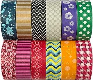 Allydrew Washi Decorative Masking Tapes (Set of 12)
