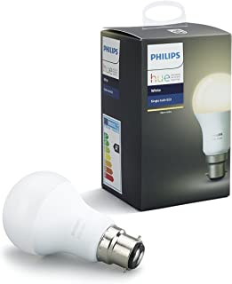 Philips Hue White Bayonet Cap (B22) Dimmable LED Smart Bulb (Compatible with Amazon Alexa, Apple HomeKit and Google Assist...