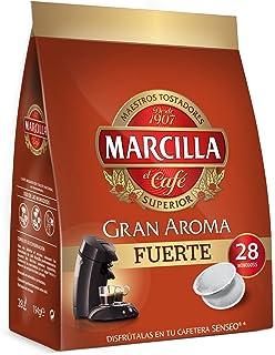 Marcilla Café Fuerte para máquina Senseo - 5 paquetes de 28 monodosis (Total 140 monodosis)
