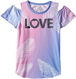 Love Cold Shoulder Top (Little Kids/Big Kids)