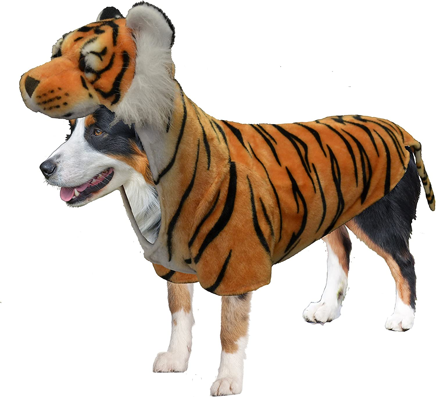 Amazing Pet Products Doggy Wannabe Comfy Creature Coats Costume Tiger Large