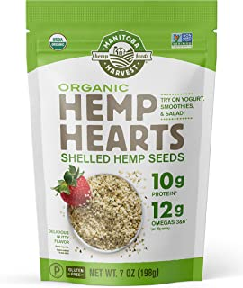 Manitoba Harvest Organic Hemp Hearts Shelled Hemp Seeds, 7 Ounce (Pack of 1); with 10g Protein & 12g Omegas per Serving, N...