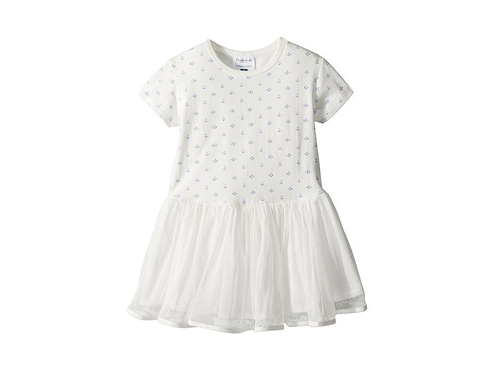 Toobydoo Sweet Anchor Tulle Dress (Toddler/Little Kids/Big Kids) (White) Girl