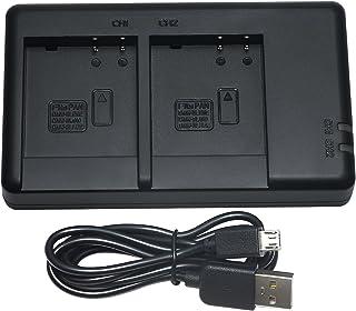 DMW-BLH7 USB Cargador para Panasonic Lumix DMC-GF3 Lumix GX7 Lumix DMC-GM1 Lumix DMC-LX100 LUMIX DMC-TZ101 Lumix DMC-GF5 Lumix LX100 DMC-GM5K Bater/ía y m/ás Lumix DMC-GX7 LUMIX DMC-GF6