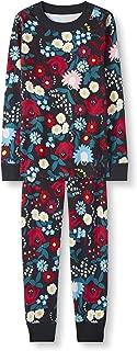 Kids Organic Cotton 2-Piece Long-Sleeve Print Pajama Set