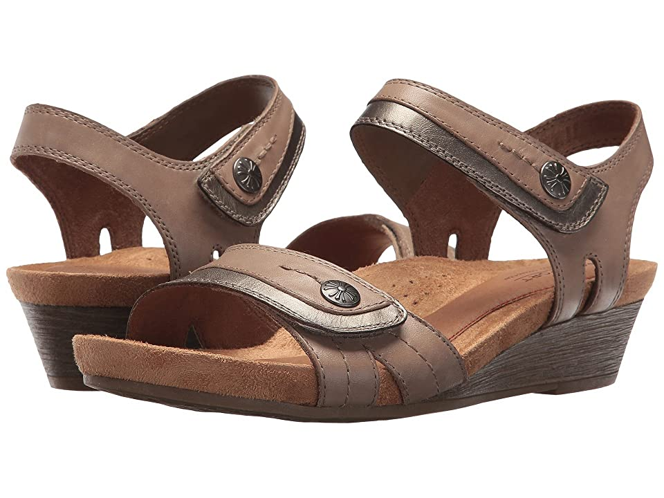 Rockport Cobb Hill Collection Cobb Hill Hollywood Two-Piece Sandal (Khaki Leather) Women