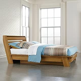 Sauder 416501 Full Platform Bed, Pale Oak Finish