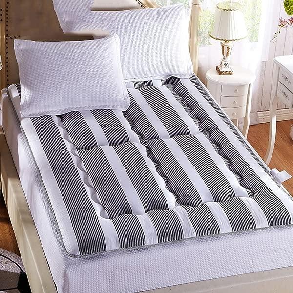 LJ XJ Thick Tatami Mattress Foldable Leisure Bed Mattress Dormitory Sponge Tatami Mat Non Slip Floor Mat Grey 90x195cm 35x77inch
