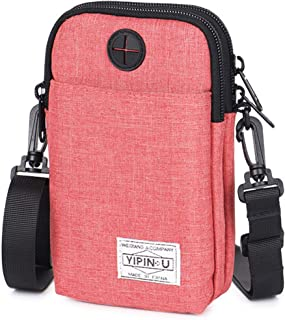 Multi-function Waterproof Waist, Utility Bag With Belt Pouch for Man Women for Sport Camping Hiking with Cell Phone and Accessories - Red