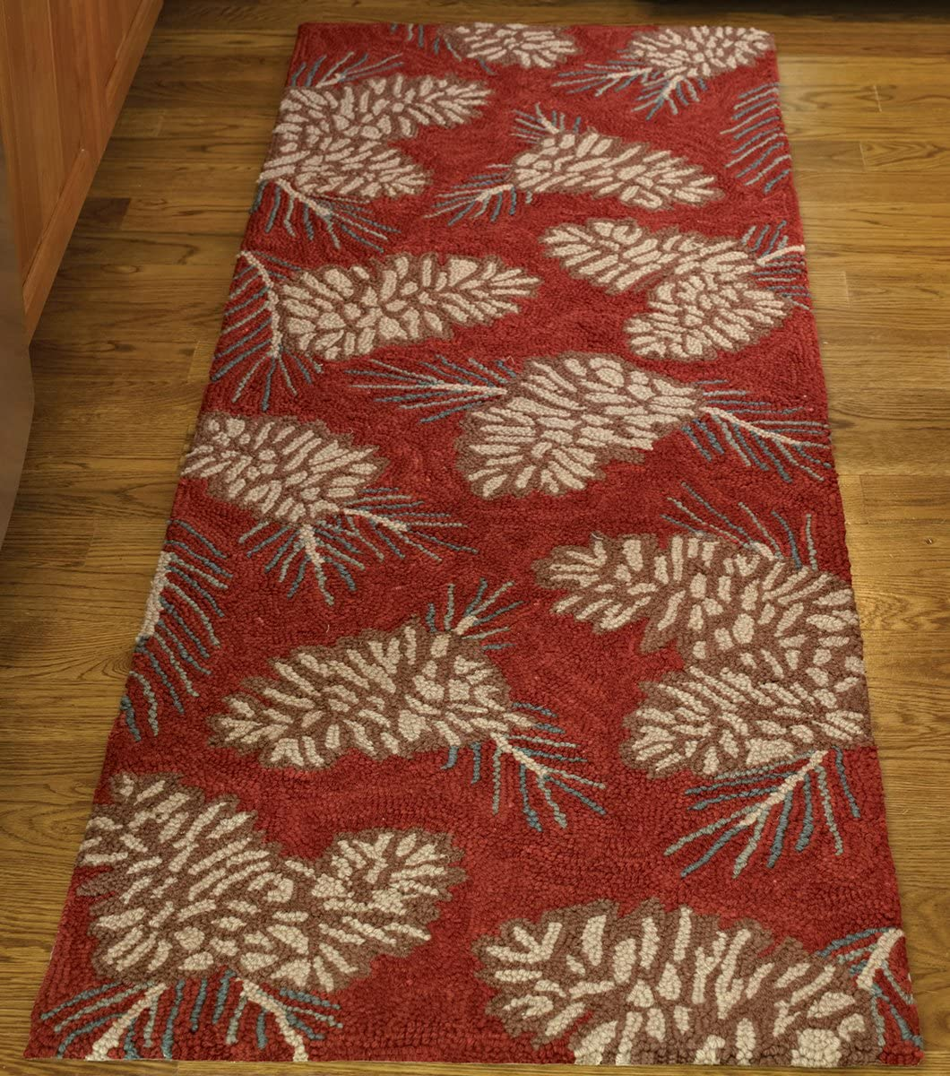 Park Designs Pinecone Hooked Rug Runner 24X72 72 24 Super beauty product restock Ranking TOP13 quality top x
