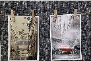 Ducomi Marco de fotos con cuerda y pinzas – Decoración múltiple DIY para colgar – Marcos personalizables con creatividad – Ideal para fiestas y eventos – Idea regalo