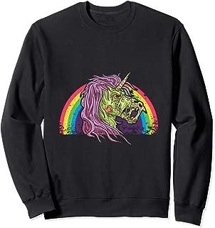 Zombiecorn Gift Halloween Rainbow Zombie Unicorn Sweatshirt