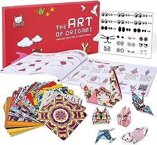 JoyCat Origami Paper Kit, 90 Sheets Double Sided Origami Kit 5.5 Inch,Kaleidoscope,Japanese and Animal Patterns-30 Origami...