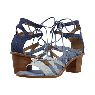 Frye Brielle Gladiator (Denim Multi) High Heels