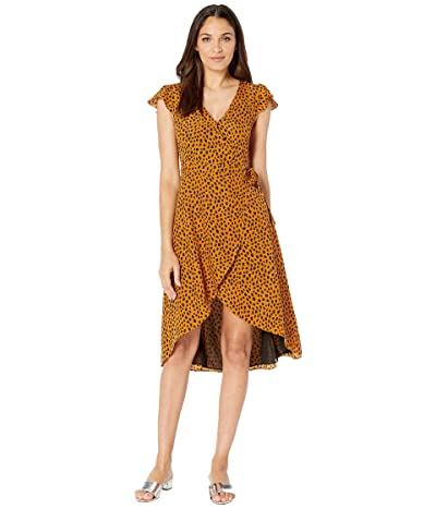 BB Dakota Pending Leopard Print Wrap Dress (Amber) Women