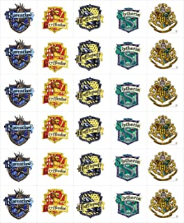 15 Harry Potter Hogwarts School & House Crests Edible Cookie and Brownie Toppers